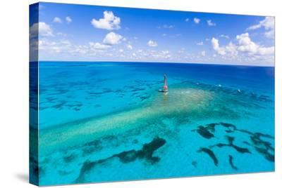 Aerial View of Diving and Snorkeling Boats-Mike Theiss-Stretched Canvas Print