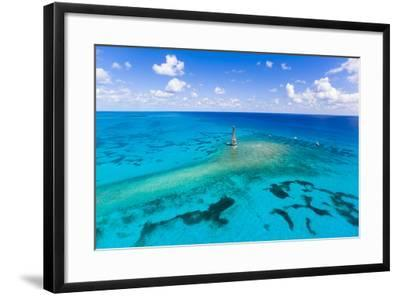 Aerial View of Diving and Snorkeling Boats-Mike Theiss-Framed Photographic Print