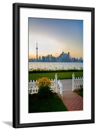 The Skyline of Toronto at Sunset from Front Yard of Home on Centre Island-Tim Thompson-Framed Photographic Print