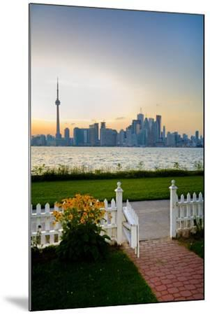 The Skyline of Toronto at Sunset from Front Yard of Home on Centre Island-Tim Thompson-Mounted Photographic Print