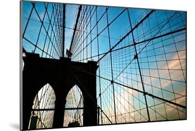 A View of the Brooklyn Bridge Through Cables-Kike Calvo-Mounted Premium Photographic Print