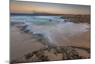 Sandy Shore at Kaehu Point, Mo'Omomi Beach, Nature Conservancy, Molokai, Hawaii-Richard Cooke III-Mounted Photographic Print