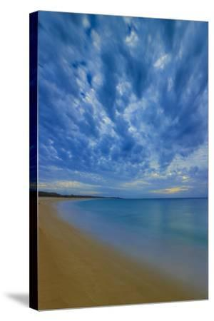 After Sunset at Papohaku Beach, West End, Molokai, Hawaii-Richard A Cooke III-Stretched Canvas Print