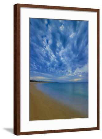 After Sunset at Papohaku Beach, West End, Molokai, Hawaii-Richard A Cooke III-Framed Photographic Print