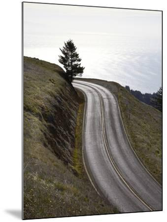 A Road in Mount Tamalpais State Park with a View of the Pacific Ocean in the Distance-Keith Barraclough-Mounted Photographic Print
