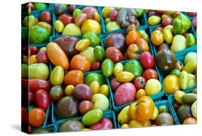 Colorful Heirloom Tomatoes at a Farmers' Market-Kike Calvo-Stretched Canvas Print