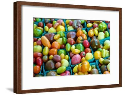 Colorful Heirloom Tomatoes at a Farmers' Market-Kike Calvo-Framed Premium Photographic Print
