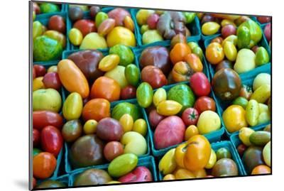 Colorful Heirloom Tomatoes at a Farmers' Market-Kike Calvo-Mounted Premium Photographic Print