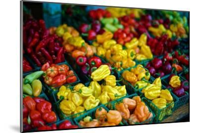 Colorful Peppers for Sale at a Farmers' Market-Kike Calvo-Mounted Premium Photographic Print