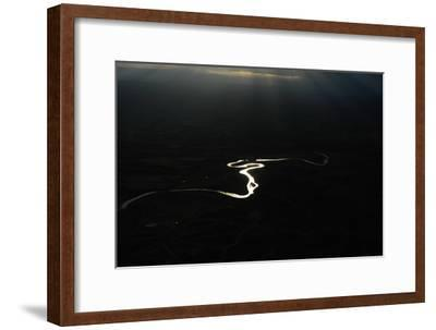 Early Morning Aerial of the Powder River-Michael Forsberg-Framed Photographic Print