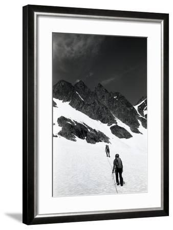 Climbers Ascending a Glacier on a Mountain Near Rogers Pass-Michael Hanson-Framed Photographic Print