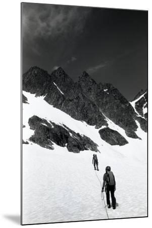 Climbers Ascending a Glacier on a Mountain Near Rogers Pass-Michael Hanson-Mounted Photographic Print