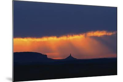 A Thunderstorm Rolls in over Chimney Rock-Michael Forsberg-Mounted Photographic Print