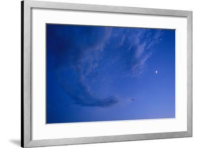 Full Frame of a Waxing Moon in the Bright Blue Sky-Michael Forsberg-Framed Photographic Print