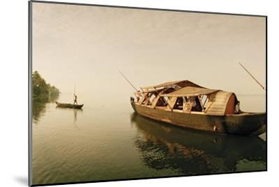 A Rice Boat Converted to a Houseboat Floats on Backwaters of Kerala-Macduff Everton-Mounted Photographic Print