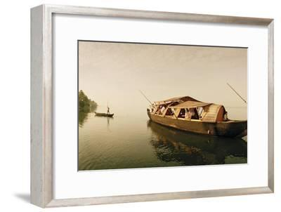 A Rice Boat Converted to a Houseboat Floats on Backwaters of Kerala-Macduff Everton-Framed Photographic Print