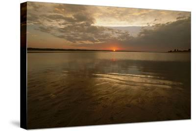 The Sunsets over Calamus Reservoir-Michael Forsberg-Stretched Canvas Print