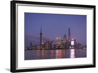 The Towers of Pudong District across the Huangpu River from the Bund, Shanghai, China-Nigel Hicks-Framed Photographic Print