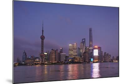 The Towers of Pudong District across the Huangpu River from the Bund, Shanghai, China-Nigel Hicks-Mounted Photographic Print