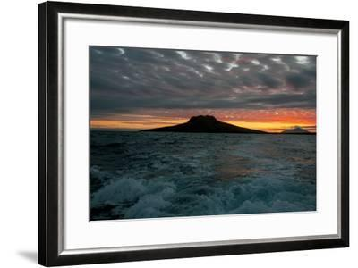 The Channel Between Sombrero Chino Island and Santiago Island in the Galapagos at Sunset-Karen Kasmauski-Framed Photographic Print