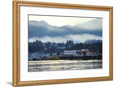 A Scenic View of Prince Rupert's Waterfront Community, at Sunrise-Jonathan Kingston-Framed Photographic Print