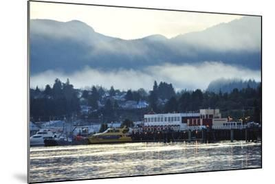 A Scenic View of Prince Rupert's Waterfront Community, at Sunrise-Jonathan Kingston-Mounted Photographic Print