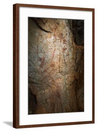 Gwion Gwion, also known as Bradshaw Rock Paintings, Found on Jar Island in Western Australia-Jeff Mauritzen-Framed Photographic Print