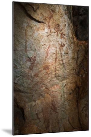 Gwion Gwion, also known as Bradshaw Rock Paintings, Found on Jar Island in Western Australia-Jeff Mauritzen-Mounted Photographic Print