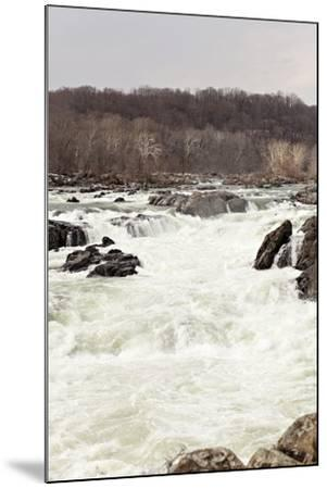 The Fast Moving Waters of the Potomac River Cascade over Boulders-Hannele Lahti-Mounted Photographic Print