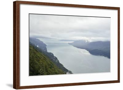 A View from Mount Roberts of Low Clouds Hover over Gastineau Channel-Jonathan Kingston-Framed Photographic Print