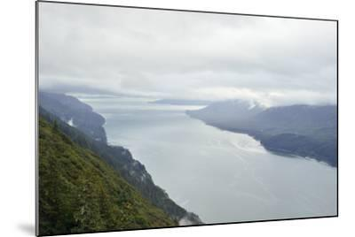 A View from Mount Roberts of Low Clouds Hover over Gastineau Channel-Jonathan Kingston-Mounted Photographic Print