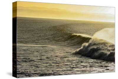A Wave Breaks on a Lava Reef in South Africa's Jeffreys Bay-Luis Lamar-Stretched Canvas Print
