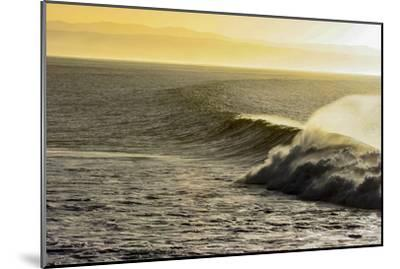 A Wave Breaks on a Lava Reef in South Africa's Jeffreys Bay-Luis Lamar-Mounted Photographic Print