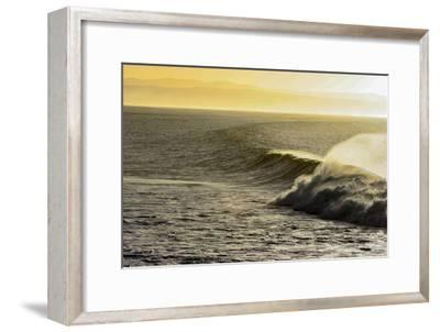 A Wave Breaks on a Lava Reef in South Africa's Jeffreys Bay-Luis Lamar-Framed Photographic Print