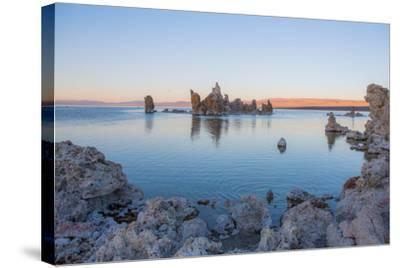 Calcium-Carbonate Spires and Knobs Formed by Interaction of Freshwater Springs and Alkaline Water-Ben Horton-Stretched Canvas Print