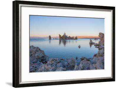 Calcium-Carbonate Spires and Knobs Formed by Interaction of Freshwater Springs and Alkaline Water-Ben Horton-Framed Photographic Print