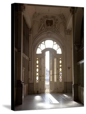 A Hall and Balcony Door in the Second Floor of the Gran Teatro De La Habana-Michael Lewis-Stretched Canvas Print