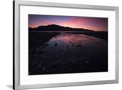 Sunrise Above Lake Hawea and Mount Melina-Michael Melford-Framed Photographic Print