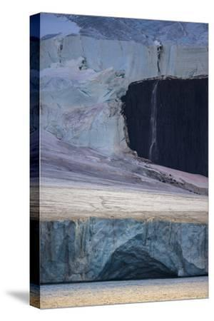 A Glaciated Landscape of Franz Josef Land from a Passing Ship-Cory Richards-Stretched Canvas Print