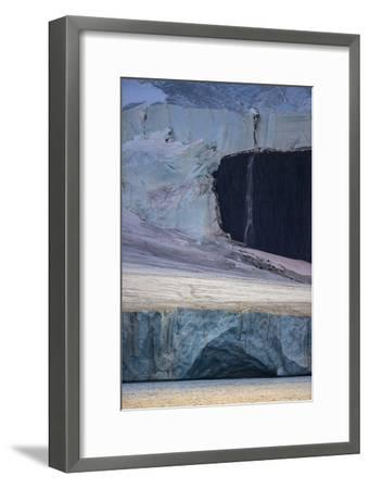 A Glaciated Landscape of Franz Josef Land from a Passing Ship-Cory Richards-Framed Photographic Print