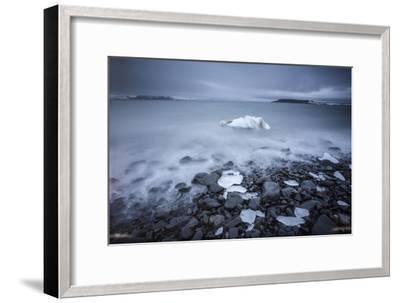 Sea Ice Off Hooker Island-Cory Richards-Framed Photographic Print