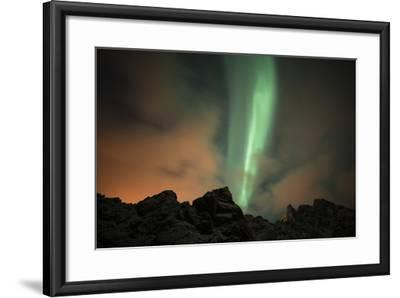 An Aurora Borealis and the Big Dipper Constellation Above a Mountain Peak-Sergio Pitamitz-Framed Photographic Print