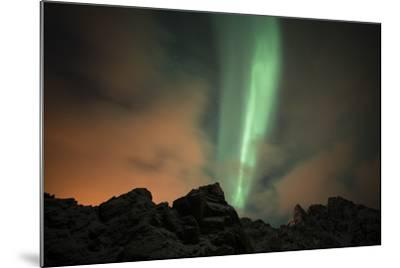 An Aurora Borealis and the Big Dipper Constellation Above a Mountain Peak-Sergio Pitamitz-Mounted Photographic Print