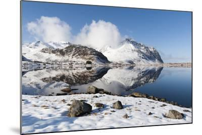 Mountains Reflect into the Calm Water of a Lake-Sergio Pitamitz-Mounted Photographic Print
