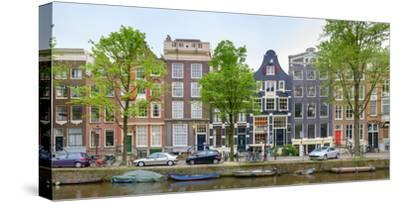 Houses on the Brouwersgracht, Amsterdam, North Holland, Netherlands--Stretched Canvas Print