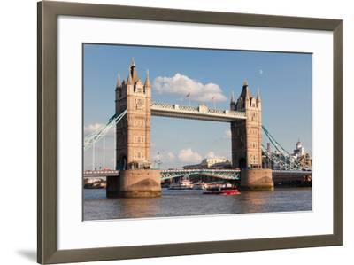 Tower Bridge, Thames River, London, England--Framed Photographic Print