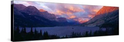 St. Mary Lake, Glacier National Park, Montana--Stretched Canvas Print