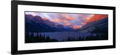 St. Mary Lake, Glacier National Park, Montana--Framed Photographic Print