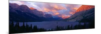 St. Mary Lake, Glacier National Park, Montana--Mounted Photographic Print