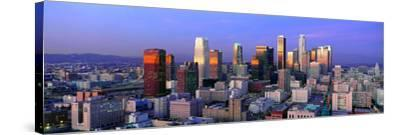 Skyline, Los Angeles, California--Stretched Canvas Print